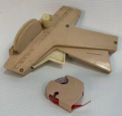 Vintage Beige Dymo Label Maker 1038 Dymo Tape Roll - Red 14