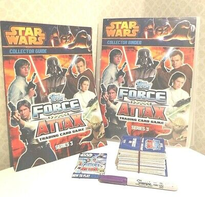 STAR WARS Force Attax Series 3 BUNDLE 186 Trading cards Collectors Binder Game