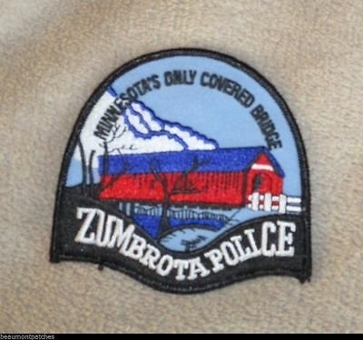 "Zumbrota Police Patch - Minnesota - 3 5/8"" x 3 1/2"""