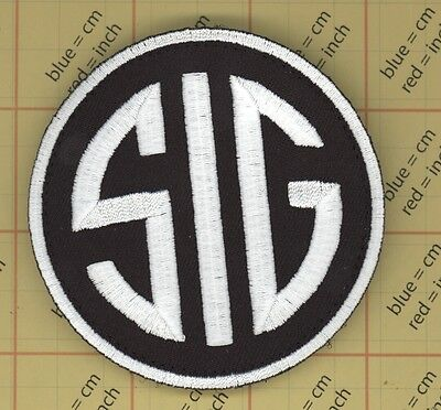 SIG FIREARMS SUBDUED ACU GUN MORALE  PATCH Black QUALITY sauer #327