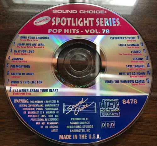 SOUND CHOICE KARAOKE SPOTLIGHT SERIES CD+G - 8478 - POP HITS VOL. 78 - CDG