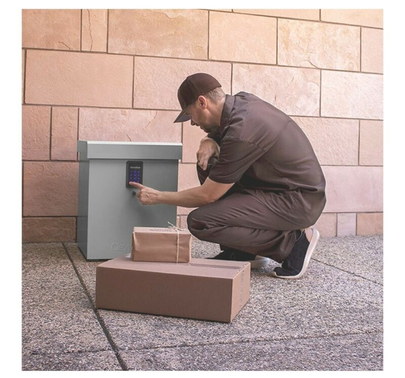 Package Delivery Drop Box Container Outdoor Porch Bin Safe USPS UPS FedEx Parcel
