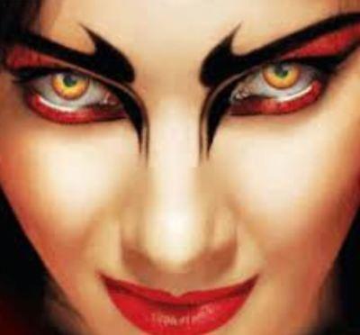 Crazy & Fun Contact Lens Lentilles Kontaktlinsen Wildfire - Gothic Kontaktlinsen