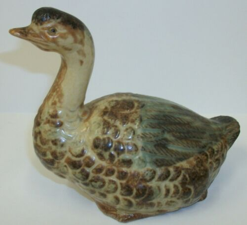 Vintage Pottery Ceramic Duck Goose Figurine - Made in Japan