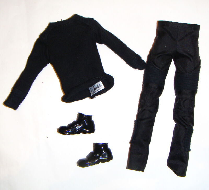 Ken Fashion Outfits Black Shirt/Pants/Shoes For Ken Doll dv00
