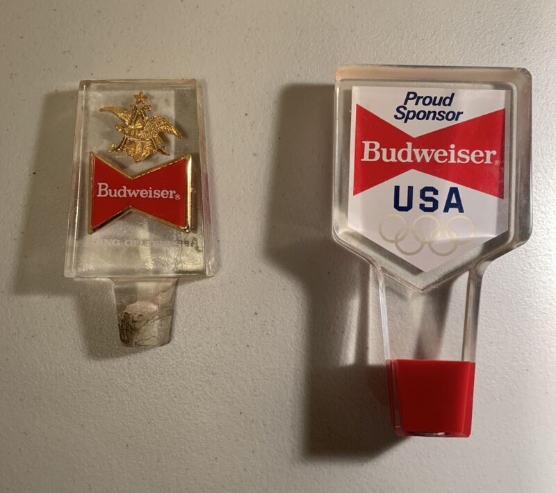 Lot Of 2 Vintage Budweiser Tap Handle / Free Shipping #358
