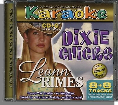 Karaoke Cd G   Dixie Chicks   Leann Rimes   New 8 Song Cd  Unchained Melody