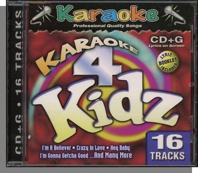 Karaoke CD+G - Karaoke 4 Kidz - 16 Song CD! Crazy in Love, Complicated, Hey Baby Crazy Love Karaoke