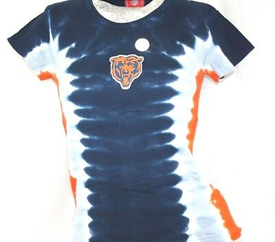 NEW Girls Youth NFL Chicago BEARS Tye Dye Crew Neck T-Shirt Official Apparel Chicago Bears Crew Shirt