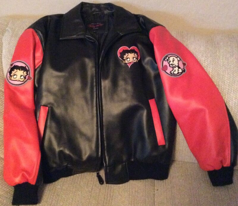 Betty Boop Red And Black Large Jacket - NEW