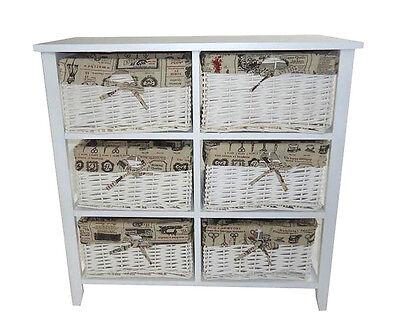 Assembled 6 Chest Of Drawer Livingroom Hallway Kids Bedroom Storage Unit Cabinet