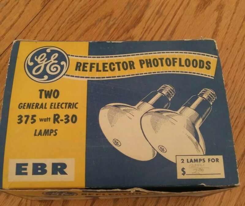 GE REFLECTOR PHOTOFLOODS ERB 375 watt