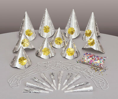 New Years Party Blowers (New Years Eve Party Kit For 10 People Inc Hats, Blowers, Necklaces &)