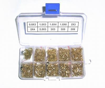 2500pcs Pcb Brass Rivets Electronic Prototype Assortment Kit 10 Values ..