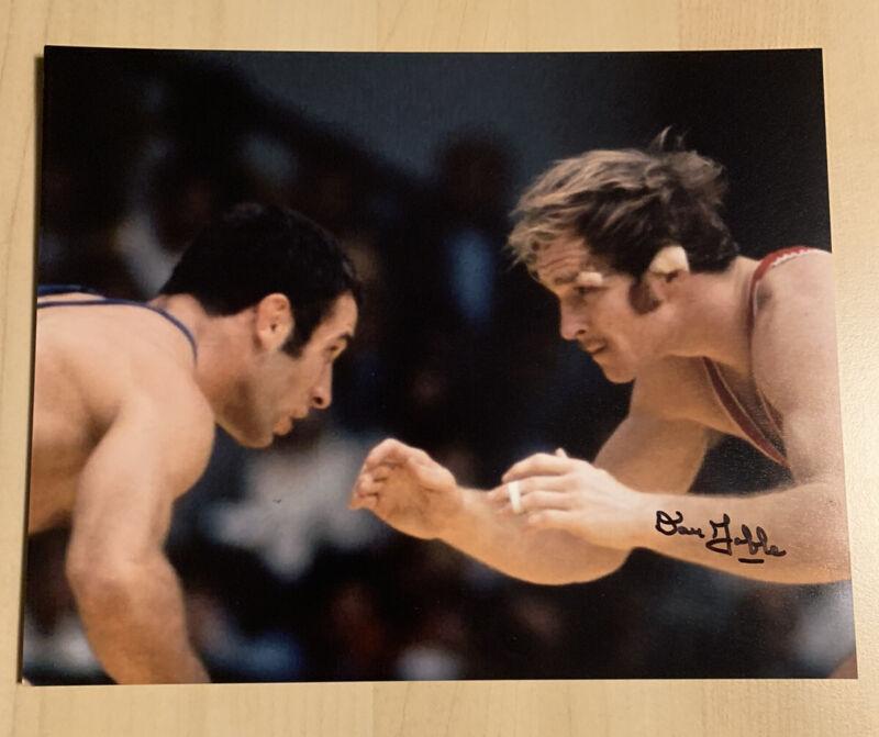 Dan Gable Signed Autographed 8x10 Photo Iowa Hawkeyes Wrestling Legend Rare COA