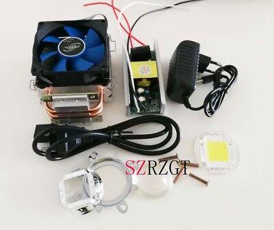 100w 100watt High Power White Led Heatsink Cooler Driverlens Led Light Kit