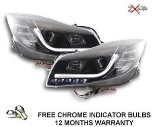 VAUXHALL INSIGNIA 09 ON BLACK LIGHT BAR DRL DAYTIME RUNNING HEADLIGHTS E MARKED