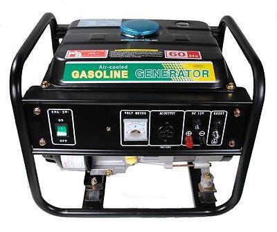 Shop4omni Portable Four Stroke 1500 Watt Single Cylinder Gasoline Generator