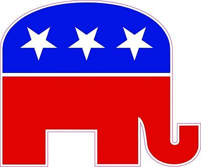 Republican GOP Elephant Vinyl Decal - Gop Elephant