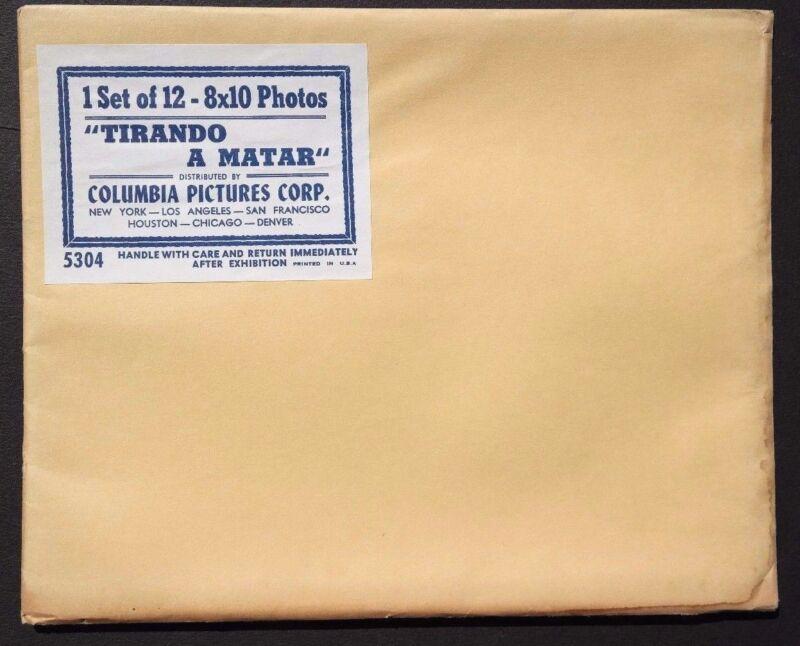 Vtg 1961 Tirando A Matar Movie Press Kit Photos (Angel Infante / Lucha Moreno)