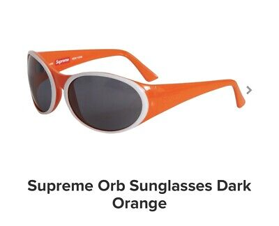 Supreme Orb Sunglasses Orange And White 100% (Orange And White Sunglasses)