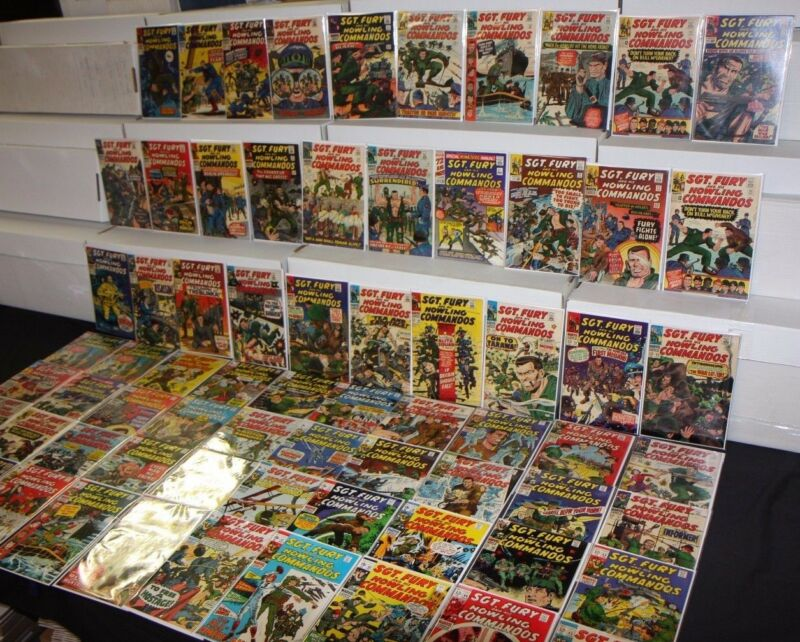 VINTAGE MARVEL SILVER SGT FURY and HIS HOWLING COMMANDOS COMIC LOT 74pc 4.5-9.0