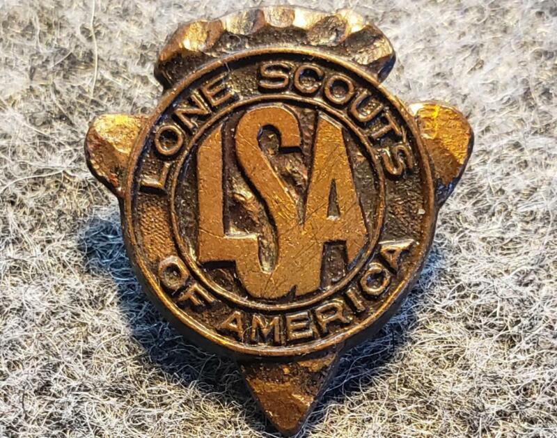 Lone Scout Lapel Pin LSA 1916-1928 Lone Scouts of America/BSA
