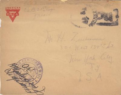 19XX, AEF: APO 761, 21st Engineers to New York City, Censored, See Remark (H139)