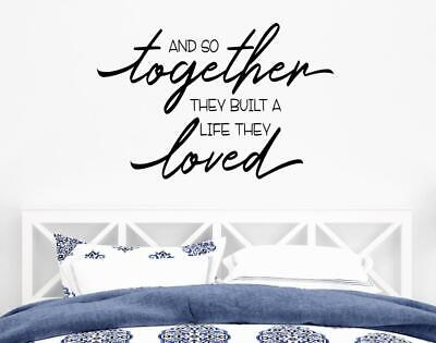 Wedding Wall Decor (And So Together They Built A Life They Loved Wall Decal Wedding Wall Decor)