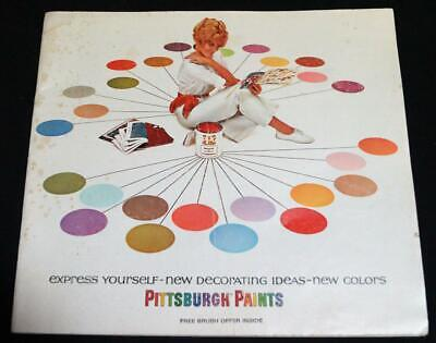 PITTSBURGH PAINTS DECORATING IDEAS & NEW COLORS ADVERTISING BROCHURE 1960s](1960s Decorating Ideas)