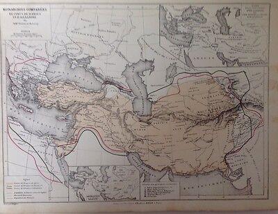 Monarchy Of Alexandre, Antique Map,1882 Atlas Ancient Roman Geography SPM2
