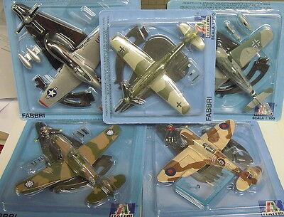 Konvolut Sonderaktion Jäger WK II 5 Modelle, Italeri, 1:100, Metall, Die Cast,