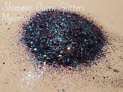 BLUE/PURPLE GLITTER MIX, CHUNKY AND FINE 5g PACK) (Purple Glitter)
