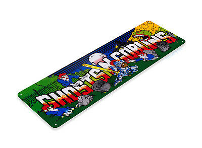 TIN SIGN Ghost n Goblins Arcade Game Room Marquee Console Metal Décor B030