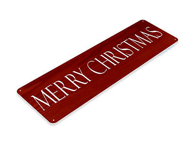 TIN SIGN Merry Christmas Red Metal Décor Art Holiday Santa Store Shop - Merry Sign