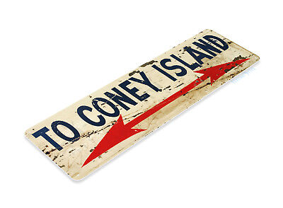TIN SIGN Coney Island Rustic Hot Dog Sign Kitchen Cottage Farm A099