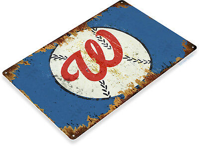 TIN SIGN Washington Nationals Baseball Rustic Sports Sign - Washington Sign
