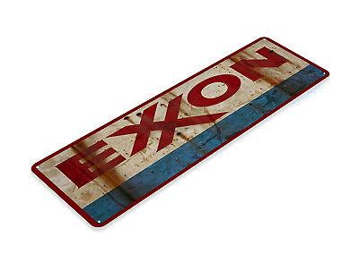 TIN SIGN Exxon Metal Décor Wall Art Gas Oil Garage Shop Cave A359](Art Shops)