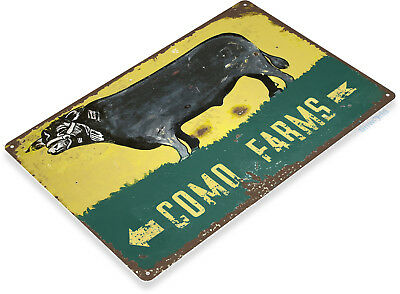 Como Kitchen - TIN SIGN Como Farms Metal Décor Wall Art Store Kitchen Barn Bar A302
