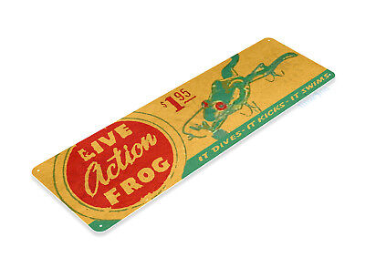 TIN SIGN B673 Live Action Frog Lures Fishing Bait Retro Box Rustic Fish (Frogs Tin Sign)