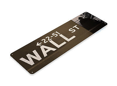 Fund Tin (TIN SIGN Wall Street Sign New York Store Money Stock Index Market Bull A832 )
