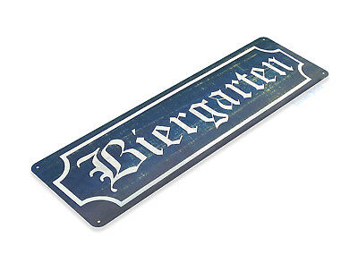 """TIN SIGN """"Biergarten"""" Metal Decor German Art Stein Kitchen Beer Pub Bar B023 #"""