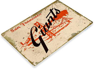 TIN SIGN San Francisco Giants Retro Metal Décor Park Baseball Card Shop A917