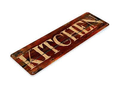"""TIN SIGN """"Kitchen Rustic"""" Metal Decor Art Store Shop Market Farm Cottage A463 #"""