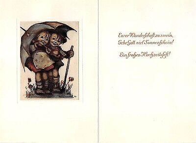 """RARITÄT Original Hummel Faltkarte um 1950 Ars sacra Verlag """"1473"""""""