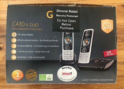Siemens GIGASET C430A Duo Cordless Phone with Answering Machine - Twin Handsets