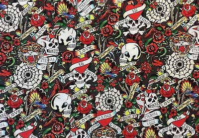 Ткань RPFQT45A ED HARDY Asian Skull