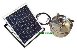 Rand Solar Powered Attic Gable Fan-30 Watt Ventilator Panel NEW!!