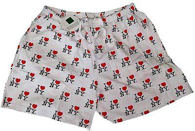White I Love NY Boxer Shorts Adult Unisex New York City Gift Souvenir Pajama NWT](I Love Ny Pajamas)