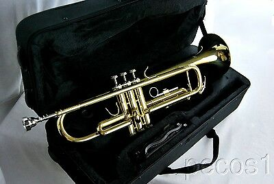 NEW 2019 GOLDEN BRASS MARCHING, CONCERT OR BAND TRUMPETS-B FLAT
